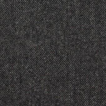 ウール&ナイロン混×無地(チャコールグレー)×ツイード