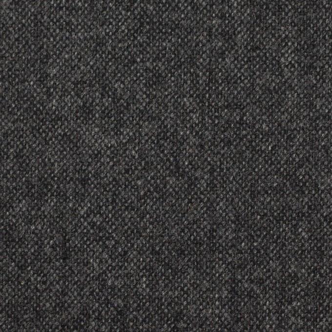 ウール&ナイロン混×無地(チャコールグレー)×ツイード イメージ1