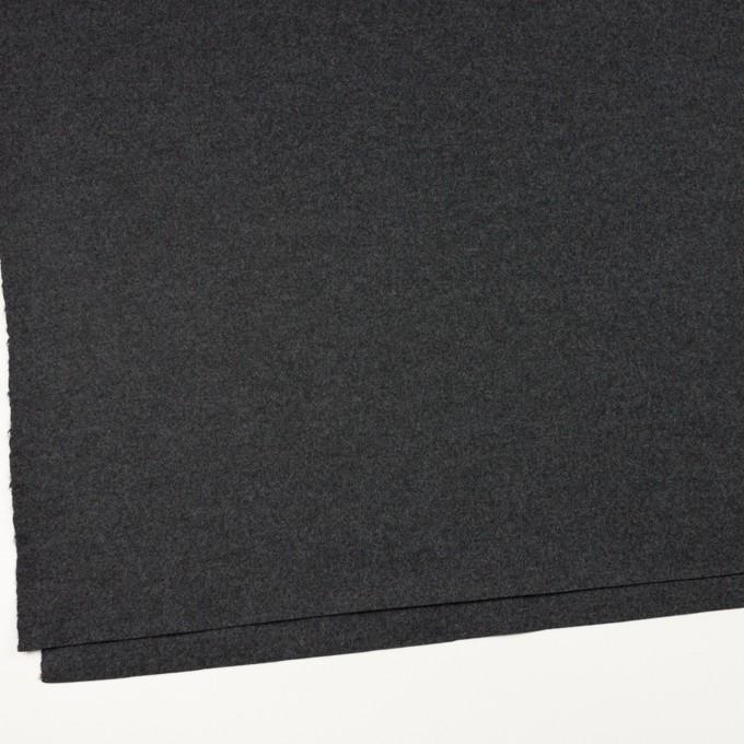 ウール×無地(チャコールグレー)×圧縮ニット イメージ2