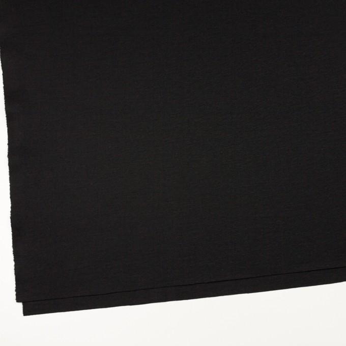 ウール×無地(ブラック)×スムースニット イメージ2