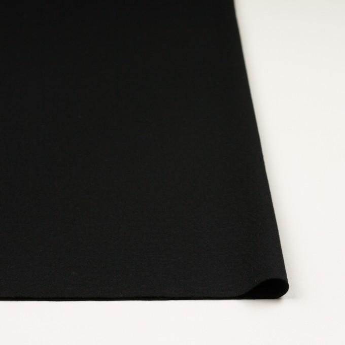 ウール×無地(ブラック)×スムースニット イメージ3