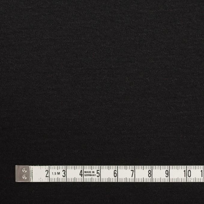 ウール×無地(ブラック)×スムースニット イメージ4