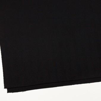 ウール×無地(ブラック)×かわり織 サムネイル2