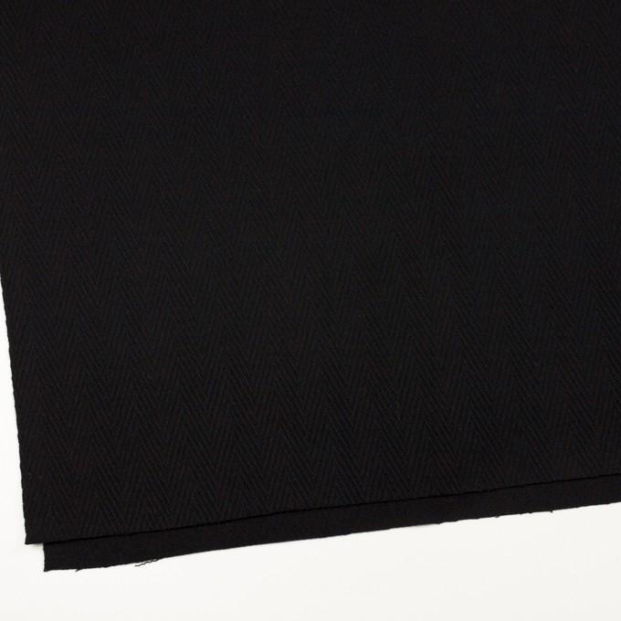 ウール×無地(ブラック)×かわり織 イメージ2