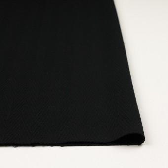 ウール×無地(ブラック)×かわり織 サムネイル3