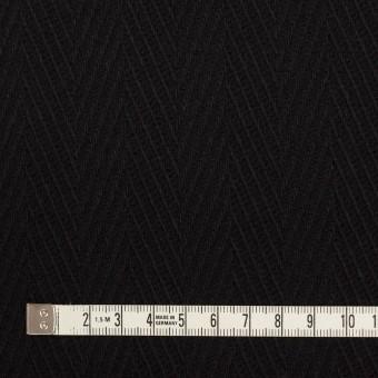 ウール×無地(ブラック)×かわり織 サムネイル4