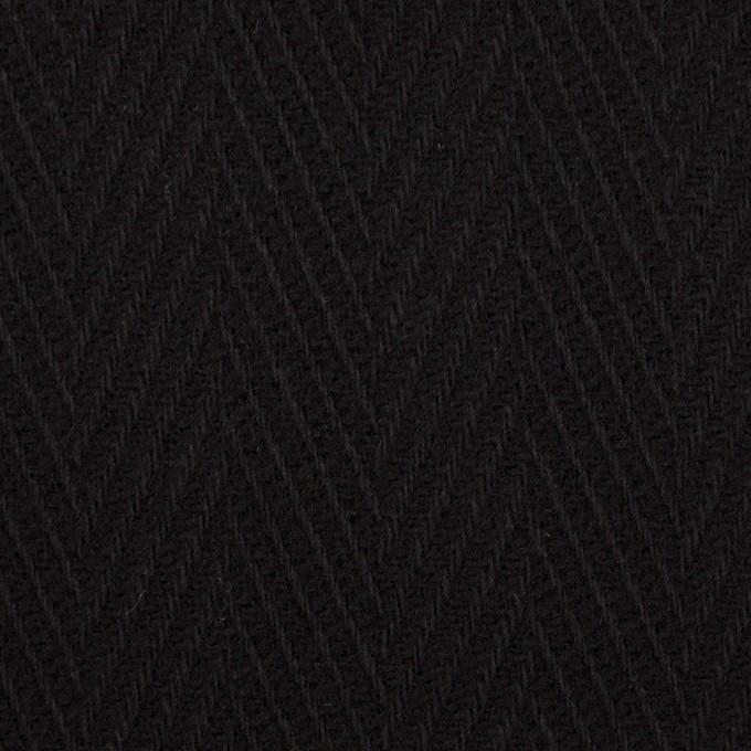 ウール×無地(ブラック)×かわり織 イメージ1