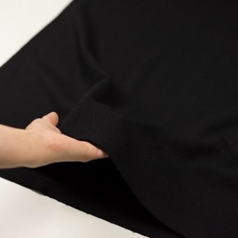 ウール×無地(ブラック)×かわり織 サムネイル5