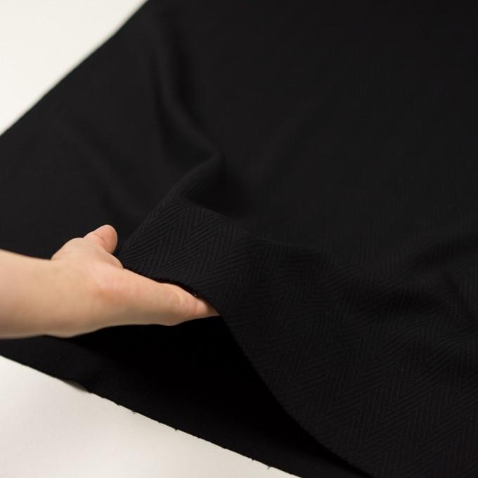 ウール×無地(ブラック)×かわり織 イメージ5