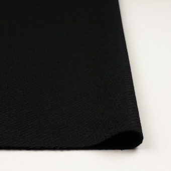 ウール&アクリル混×無地(ブラック)×かわり織 サムネイル3