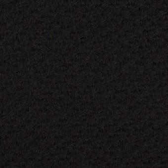 ウール&アクリル混×無地(ブラック)×かわり織