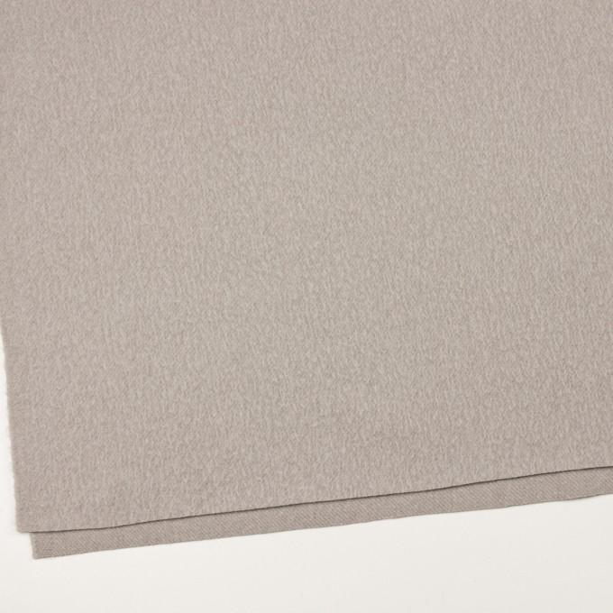 ウール&ポリエステル混×無地(グレイッシュベージュ)×かわり織_イタリア製 イメージ2