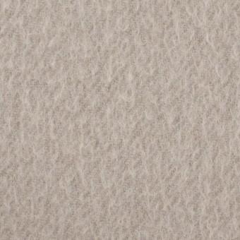 ウール&ポリエステル混×無地(グレイッシュベージュ)×かわり織_イタリア製