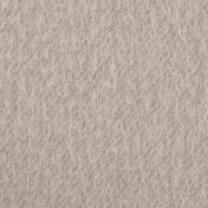 ウール&ポリエステル混×無地(グレイッシュベージュ)×かわり織_イタリア製 イメージ1