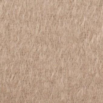 ウール&モヘア×無地(ロージーベージュ)×シャギー