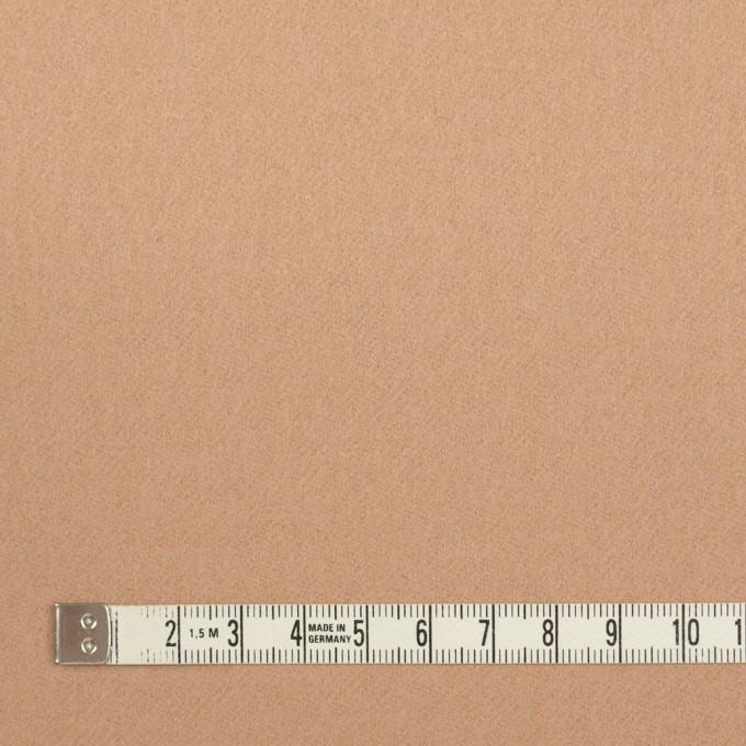 ウール×無地(ウォームベージュ)×フラノ(フランネル) イメージ4