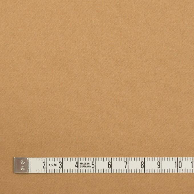 ウール×無地(キャメル)×フラノ(フランネル) イメージ4
