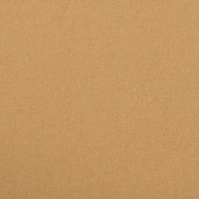 ウール×無地(キャメル)×フラノ(フランネル) イメージ1