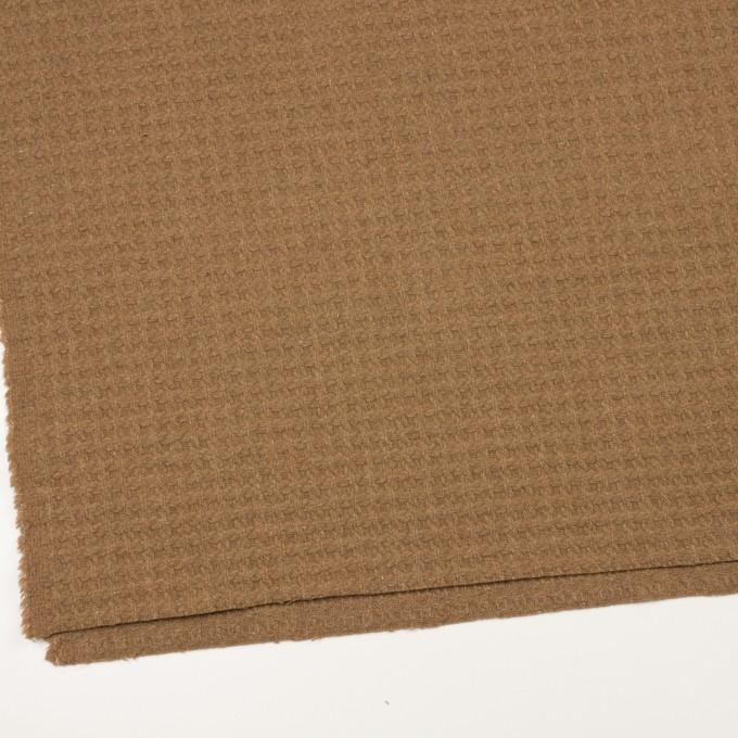 ウール&ポリエステル混×無地(シナモン)×かわり織 イメージ2