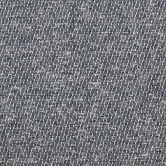 コットン&アクリル×無地(スチールグレー)×かわり織