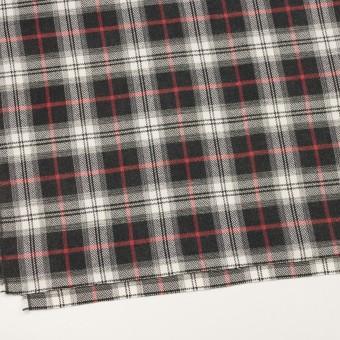 コットン×チェック(レッド&チャコール)×ヘリンボーン_全3色 サムネイル2
