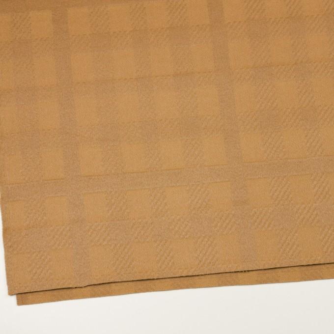 ウール&アンゴラ×チェック(キャメル)×ビーバージャガード_全2色 イメージ2