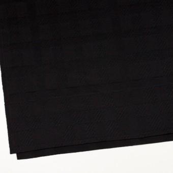 ウール&アンゴラ×チェック(ブラック)×ビーバージャガード_全2色 サムネイル2