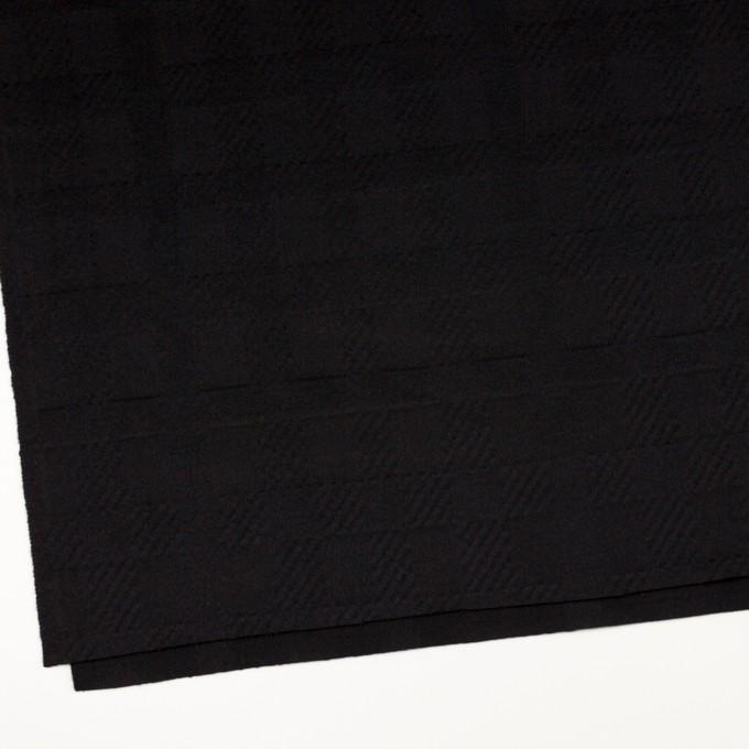 ウール&アンゴラ×チェック(ブラック)×ビーバージャガード_全2色 イメージ2
