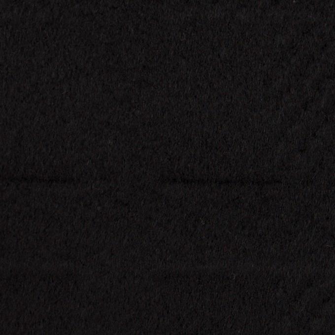 ウール&アンゴラ×チェック(ブラック)×ビーバージャガード_全2色 イメージ1
