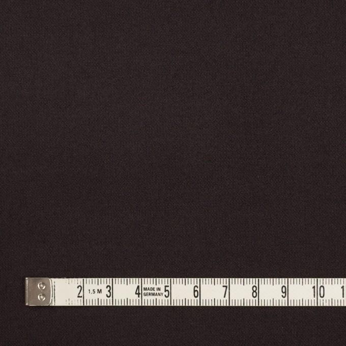 コットン&ポリウレタン×無地(ダークブラウン)×フランネル・ストレッチ イメージ4