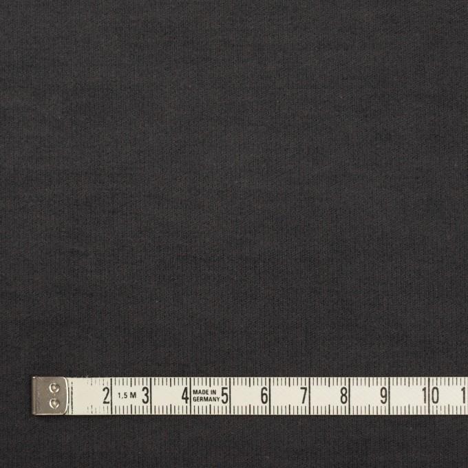 コットン&ポリウレタン×無地(チャコール)×フランネル・ストレッチ_全2色 イメージ4