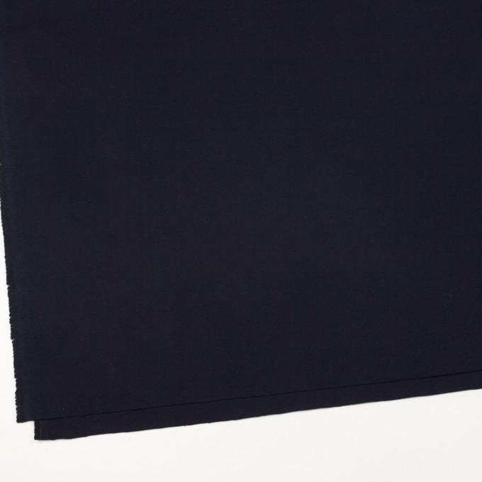 コットン×無地(ダークネイビー)×フランネル イメージ2
