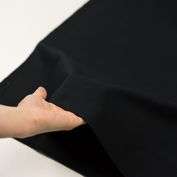 コットン×無地(ブラック)×フランネル イメージ5