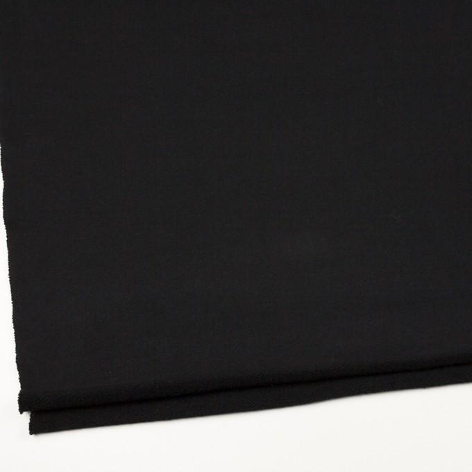 コットン×無地(ブラック)×裏毛ニット イメージ2