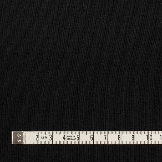コットン×無地(ブラック)×裏毛ニット イメージ4