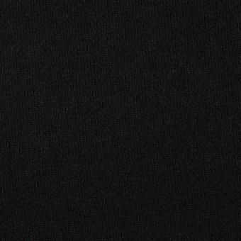 コットン×無地(ブラック)×裏毛ニット サムネイル1
