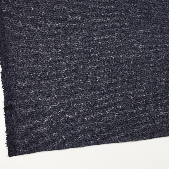 ウール&アクリル混×無地(グレープグレー)×メッシュニット イメージ2