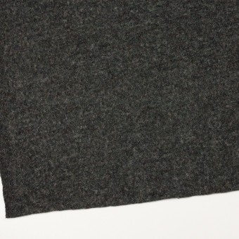 ウール&アクリル混×無地(チャコールグレー)×メッシュニット サムネイル2