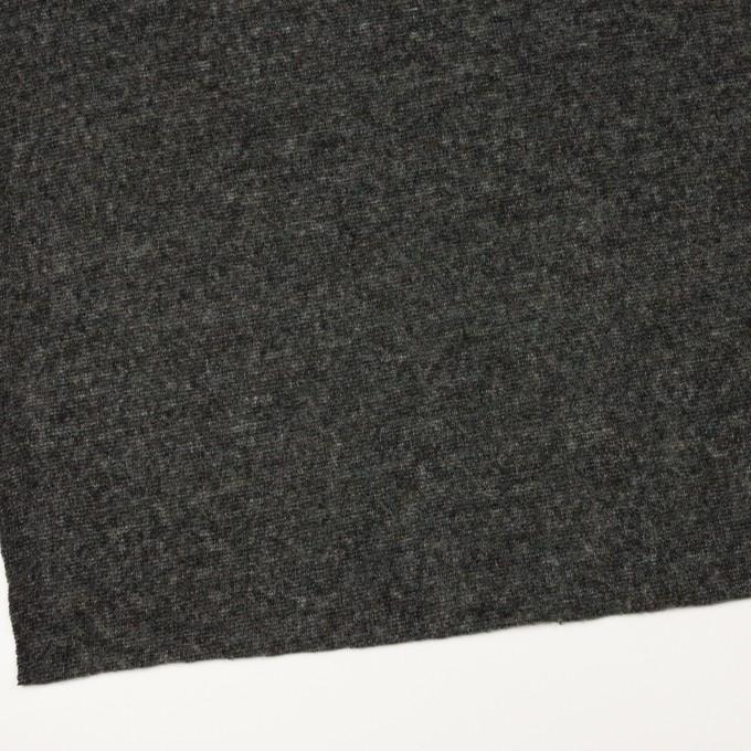 ウール&アクリル混×無地(チャコールグレー)×メッシュニット イメージ2