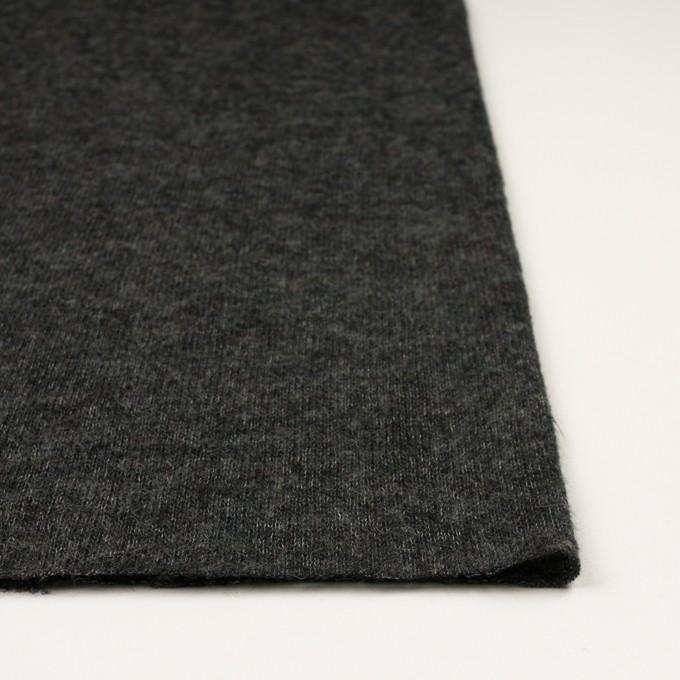 ウール&アクリル混×無地(チャコールグレー)×メッシュニット イメージ3