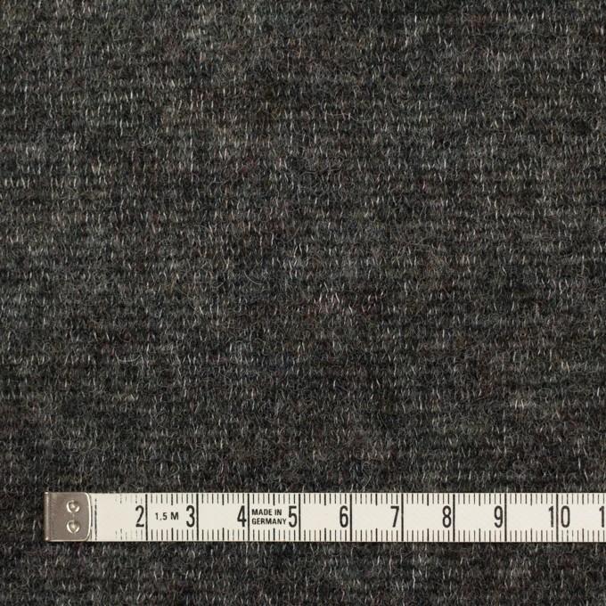 ウール&アクリル混×無地(チャコールグレー)×メッシュニット イメージ4