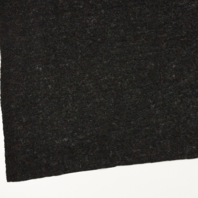 アクリル&ナイロン混×無地(チャコールブラック)×メッシュニット イメージ2