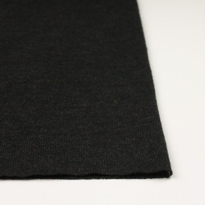 アクリル&ナイロン混×無地(チャコールブラック)×メッシュニット イメージ3