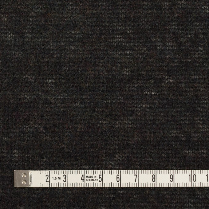 アクリル&ナイロン混×無地(チャコールブラック)×メッシュニット イメージ4