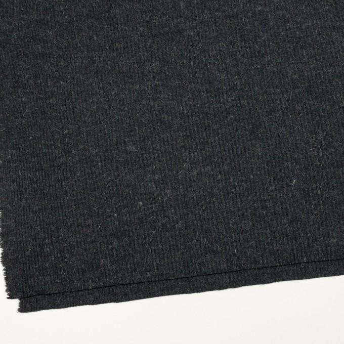 ウール&アルパカ混×無地(チャコールグレー)×リブニット イメージ2
