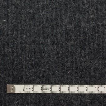 ウール&アルパカ混×無地(チャコールグレー)×リブニット サムネイル4