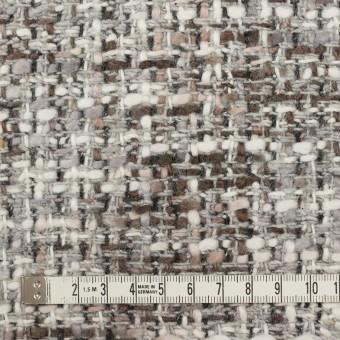 ウール&アクリル混×ミックス(グレー&ブラウン)×ファンシーツイード_イタリア製 サムネイル4