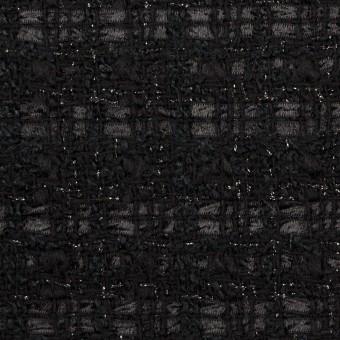 ポリエステル&ウール混×ミックス(ブラック)×ファンシーツイード