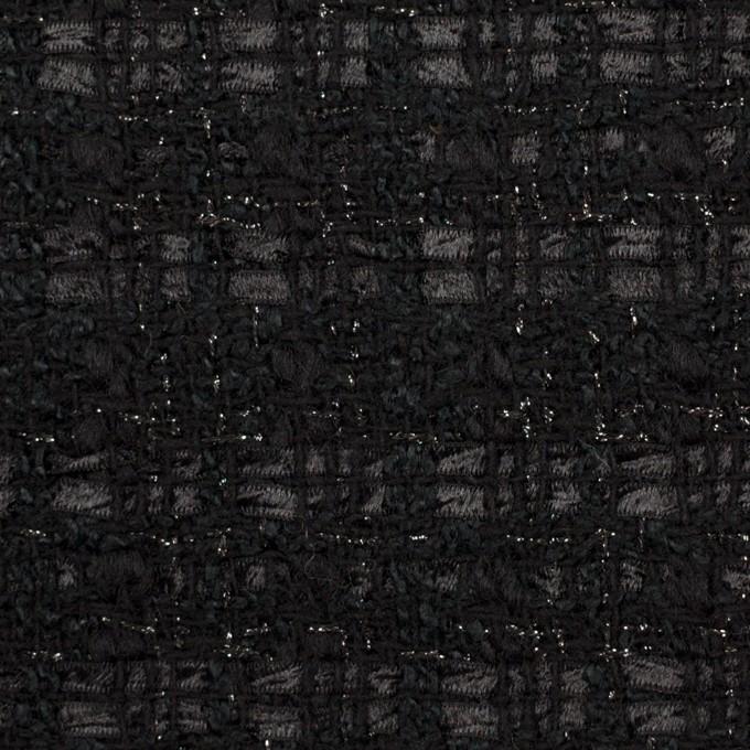 ポリエステル&ウール混×ミックス(ブラック)×ファンシーツイード イメージ1