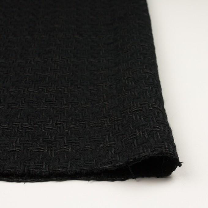 ウール&コットン×無地(ブラック)×ファンシーツイード イメージ3